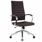 Modway Jive Highback Faux Leather Office Chair in Brown MY-EEI-272-BRN