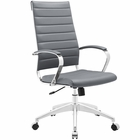 Modway Jive Highback Faux Leather Office Chair in Gray MY-EEI-272-GRY