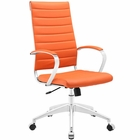 Modway Jive Highback Faux Leather Office Chair in Orange MY-EEI-272-ORA