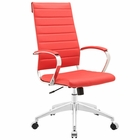 Modway Jive Highback Faux Leather Office Chair in Red MY-EEI-272-RED