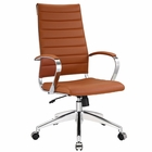 Modway Jive Highback Faux Leather Office Chair in Terracotta MY-EEI-272-TER