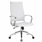 Modway Jive Highback Faux Leather Office Chair in White MY-EEI-272-WHI