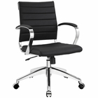Modway Jive Mid Back Faux Leather Office Chair in Black MY-EEI-273-BLK