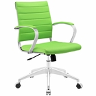 Modway Jive Mid Back Faux Leather Office Chair in Bright Green MY-EEI-273-BGR