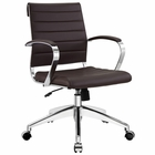 Modway Jive Mid Back Faux Leather Office Chair in Brown MY-EEI-273-BRN