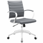 Modway Jive Mid Back Faux Leather Office Chair in Gray MY-EEI-273-GRY