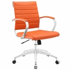 Modway Jive Mid Back Faux Leather Office Chair in Orange MY-EEI-273-ORA