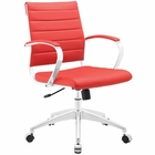 Modway Jive Mid Back Faux Leather Office Chair in Red MY-EEI-273-RED