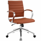 Modway Jive Mid Back Faux Leather Office Chair in Terracotta MY-EEI-273-TER