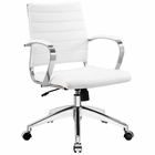 Modway Jive Mid Back Faux Leather Office Chair in White MY-EEI-273-WHI