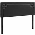 Modway Josie Full Faux Leather Headboard in Black MY-MOD-5399-BLK