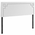 Modway Josie King Faux Leather Headboard in White MY-MOD-5403-WHI