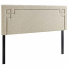 Modway Josie King Upholstered Fabric Headboard in Beige MY-MOD-5404-BEI