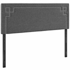 Modway Josie King Upholstered Fabric Headboard in Gray MY-MOD-5404-GRY