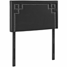 Modway Josie Twin Faux Leather Headboard in Black MY-MOD-5397-BLK