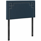 Modway Josie Twin Upholstered Fabric Headboard in Azure MY-MOD-5398-AZU