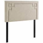 Modway Josie Twin Upholstered Fabric Headboard in Beige MY-MOD-5398-BEI