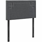 Modway Josie Twin Upholstered Fabric Headboard in Gray MY-MOD-5398-GRY