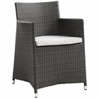 Modway Junction Dining Outdoor Patio Wicker Armchair in Brown White MY-EEI-1505-BRN-WHI