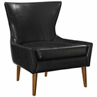 Modway Keen Faux Leather Armchair in Black MY-EEI-2458-BLK