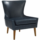 Modway Keen Faux Leather Armchair in Blue MY-EEI-2458-BLU