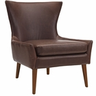 Modway Keen Faux Leather Armchair in Brown MY-EEI-2458-BRN