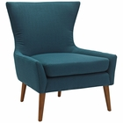 Modway Keen Upholstered Fabric Armchair in Azure MY-EEI-2459-AZU