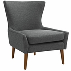 Modway Keen Upholstered Fabric Armchair in Gray MY-EEI-2459-GRY