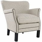 Modway Key Upholstered Fabric Armchair in Sand MY-EEI-2152-SAN