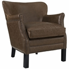 Modway Key Upholstered Vinyl Armchair in Brown MY-EEI-2153-BRN