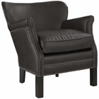 Modway Key Upholstered Vinyl Armchair in Dark Brown MY-EEI-2153-DBR