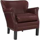 Modway Key Upholstered Vinyl Armchair in Red MY-EEI-2153-RED