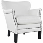 Modway Key Upholstered Vinyl Armchair in White MY-EEI-2153-WHI