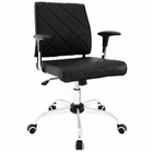 Modway Lattice Faux Leather Office Chair in Black MY-EEI-1247-BLK