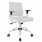 Modway Lattice Faux Leather Office Chair in White MY-EEI-1247-WHI