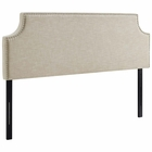 Modway Laura King Upholstered Fabric Headboard in Beige MY-MOD-5396-BEI