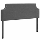 Modway Laura King Upholstered Fabric Headboard in Gray MY-MOD-5396-GRY