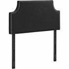 Modway Laura Twin Faux Leather Headboard in Black MY-MOD-5389-BLK
