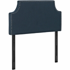 Modway Laura Twin Upholstered Fabric Headboard in Azure MY-MOD-5390-AZU