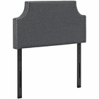 Modway Laura Twin Upholstered Fabric Headboard in Gray MY-MOD-5390-GRY