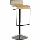 Modway LEM Wood Bar Stool in Natural MY-EEI-605-NAT