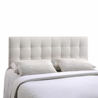 Modway Lily Full Tufted Faux Leather Headboard in White MY-MOD-5147-WHI