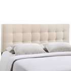 Modway Lily Full Tufted Upholstered Fabric Headboard in Ivory MY-MOD-5146-IVO