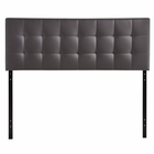 Modway Lily King Tufted Faux Leather Headboard in Brown MY-MOD-5145-BRN