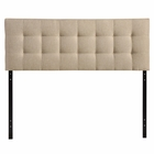 Modway Lily King Tufted Upholstered Fabric Headboard in Beige MY-MOD-5144-BEI