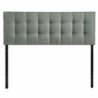 Modway Lily King Tufted Upholstered Fabric Headboard in Gray MY-MOD-5144-GRY