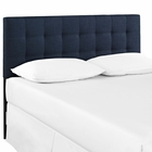 Modway Lily Queen Upholstered Fabric Headboard in Navy MY-MOD-5041-NAV
