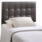 Modway Lily Twin Tufted Faux Leather Headboard in Brown MY-MOD-5149-BRN