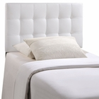 Modway Lily Twin Tufted Faux Leather Headboard in White MY-MOD-5149-WHI