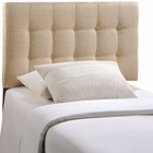 Modway Lily Twin Tufted Upholstered Fabric Headboard in Beige MY-MOD-5148-BEI